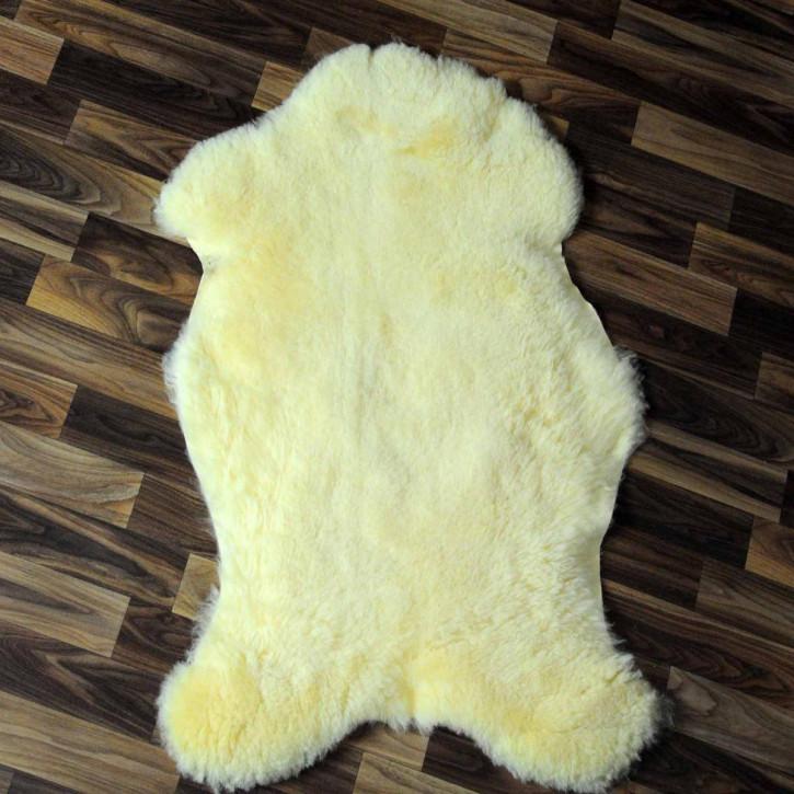 XXXL ÖKO Schaffell Fell creme weiß 130x80 Couch Stuhl Auflage #4836
