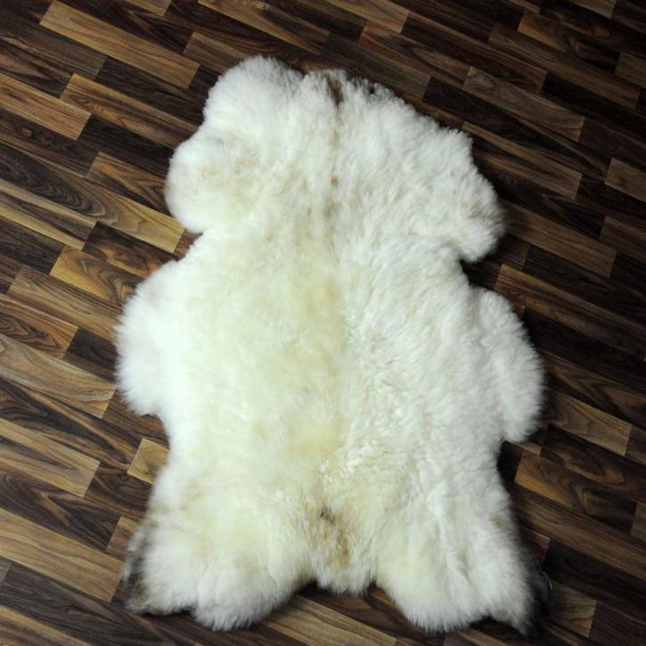 XXXL Schaffell Fell creme weiß 135x80 Couch Stuhl Auflage #4850