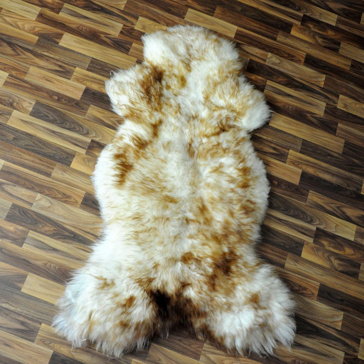 XL ÖKO Schaffell Fell Lammfell braun beige 110x80 #4904