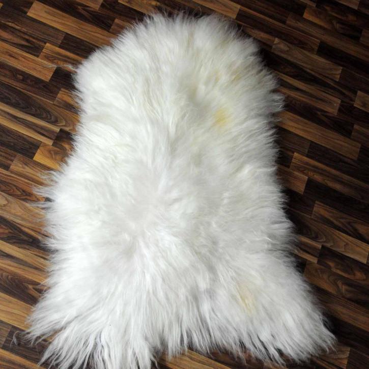 ÖKO Schaffell Fell Lammfell braun beige 105x70 Teppich #4915
