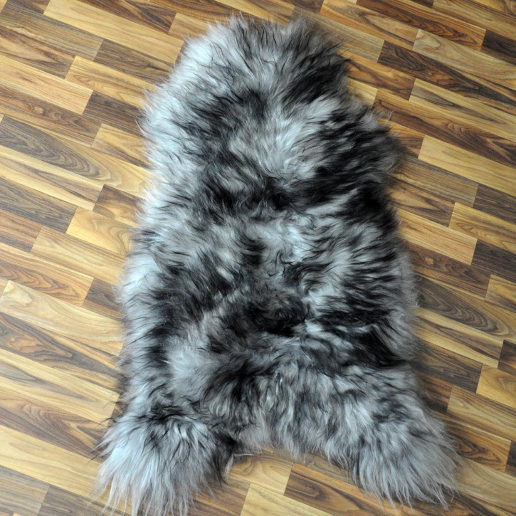 Island Schaffell grau schwarz geflammt 100x65 Auflage #4952