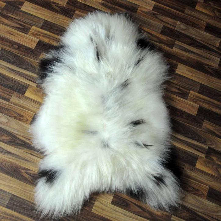 XXXL ÖKO Island Schaffell schwarz weiß 130x90 Krampus #4984