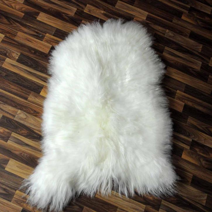 XXXL ÖKO Island Schaffell schwarzbraun weiß 130x90 #4987