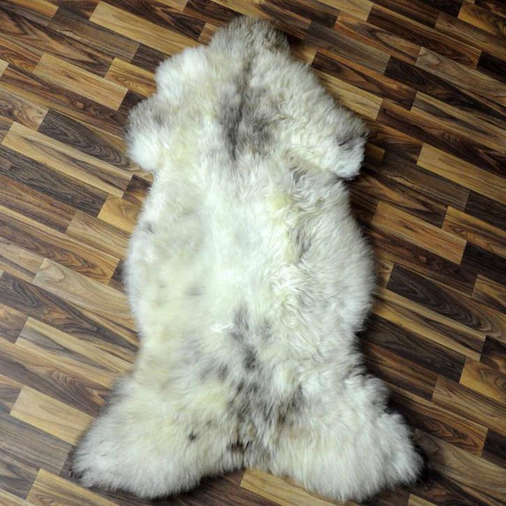 XL ÖKO Schaffell Fell braun grau 110x70 Auflage geschoren #5087
