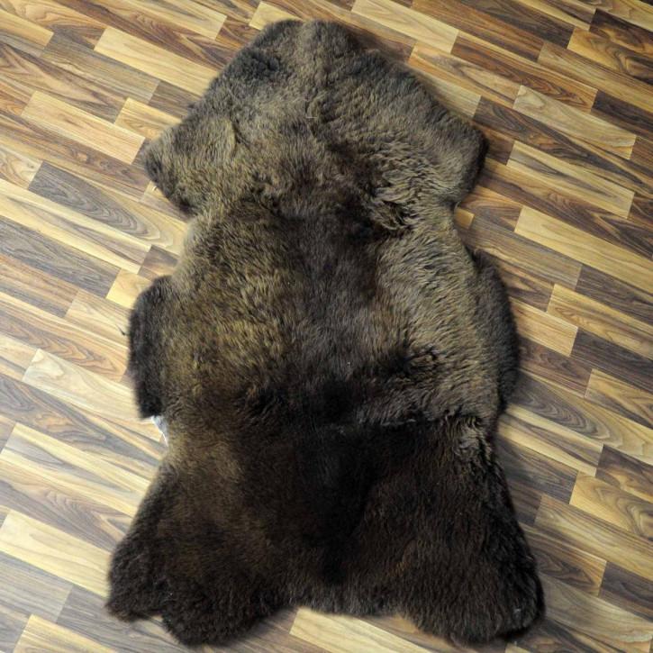 XL ÖKO Island Schaffell weiß schwarz geflammt 110x70 #5149