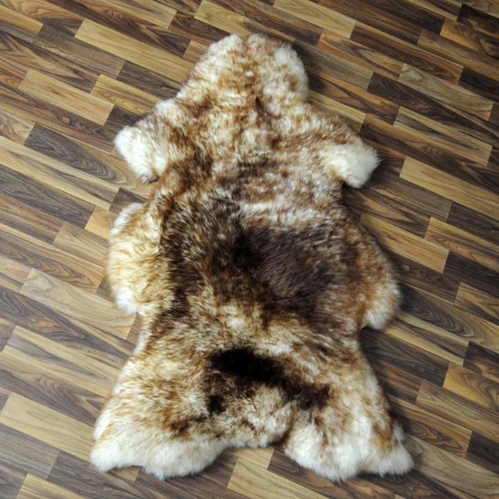 XXXL ÖKO Island Schaffell schwarzbraun weiß 130x80 Krampus #5180
