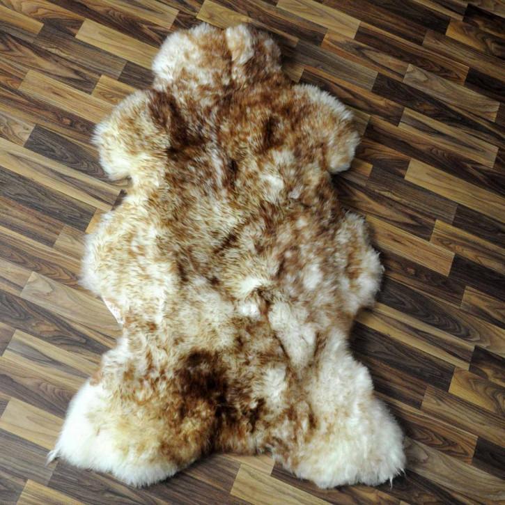 XXL ÖKO Island Schaffell schwarzbraun weiß 125x75 Krampus #5181
