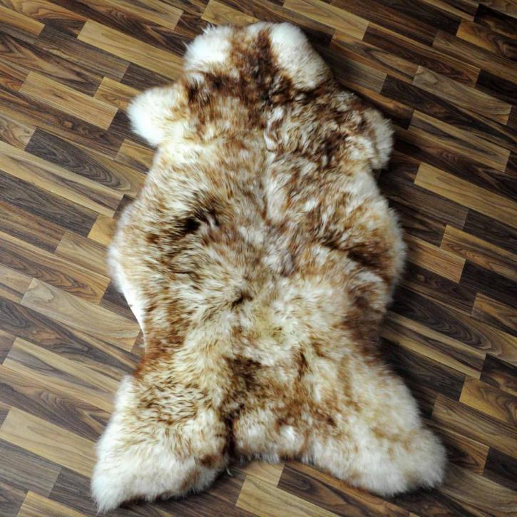 XXL ÖKO Island Schaffell schwarzbraun weiß 125x80 Krampus #5182