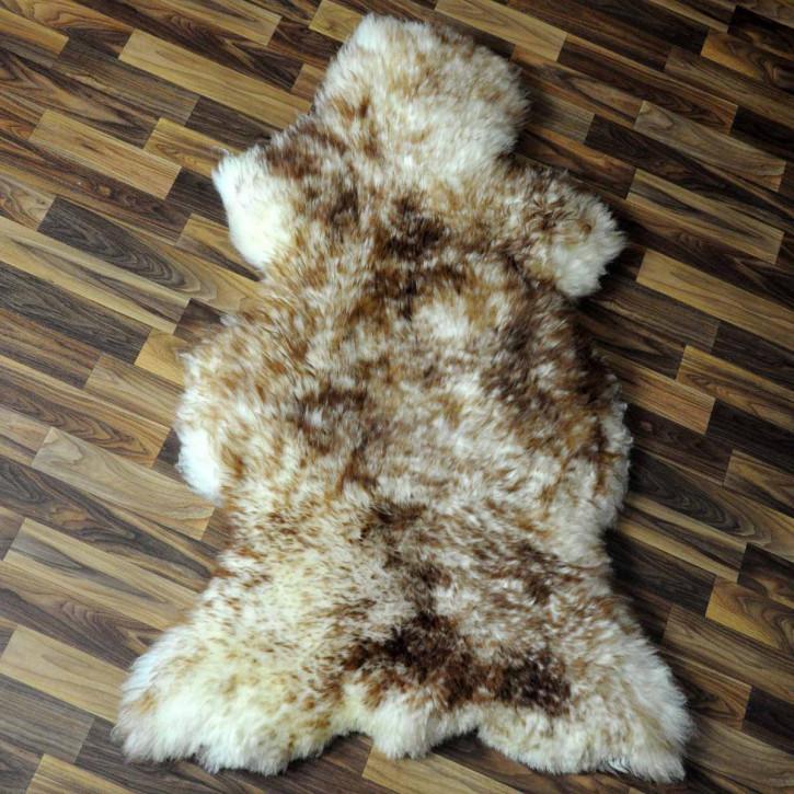 XXL ÖKO Island Schaffell schwarzbraun weiß 125x75 Krampus #5184