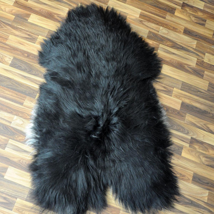 XXL ÖKO Island Schaffell schwarzbraun weiß 125x75 Krampus #5185