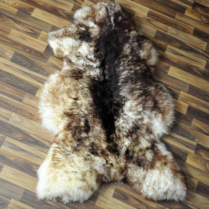 XXL ÖKO Island Schaffell schwarzbraun weiß 120x75 Krampus #5187