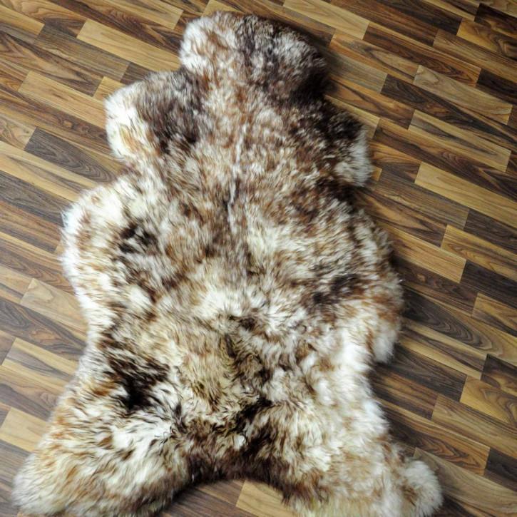 XXL ÖKO Island Schaffell schwarzbraun weiß 125x75 Krampus #5188