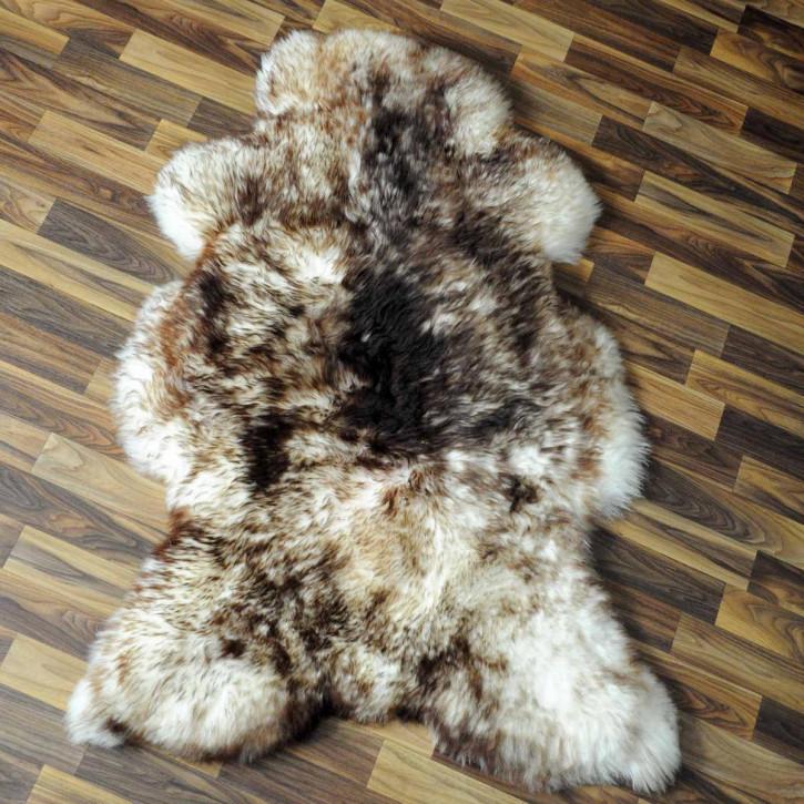 XXL ÖKO Island Schaffell schwarzbraun weiß 120x80 Krampus #5189
