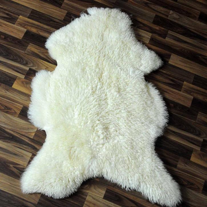 XL ÖKO Schaffell Fell Lammfell braun beige 110x70 Teppich #5197