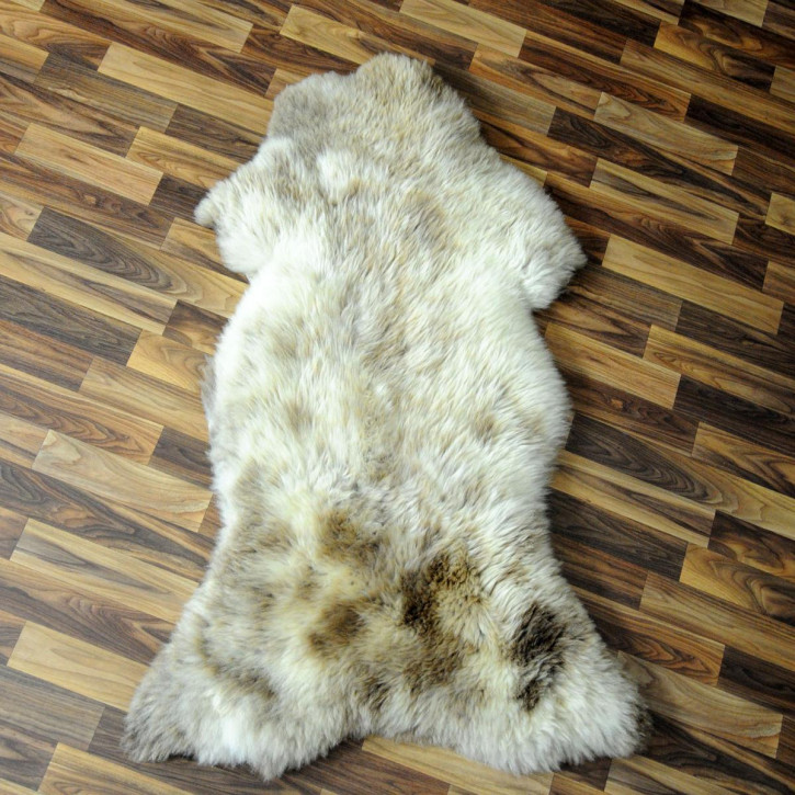 XL ÖKO Schaffell Fell Lammfell beige braun 110x70 Teppich #5210