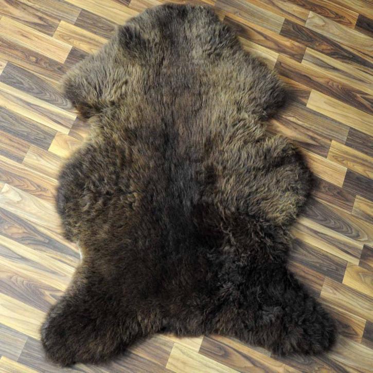 XL ÖKO Schaffell Fell Lammfell beige braun 110x70 Teppich #5212