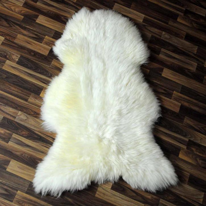 XXL ÖKO Island Schaffell schwarzbraun weiß 125x75 Krampus #5221