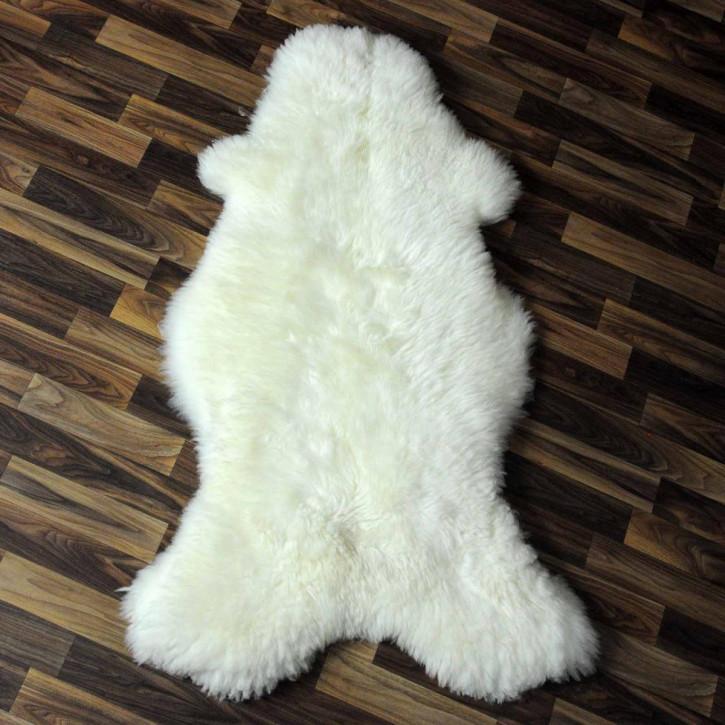 XXL ÖKO Island Schaffell schwarzbraun weiß 125x80 Krampus #5222
