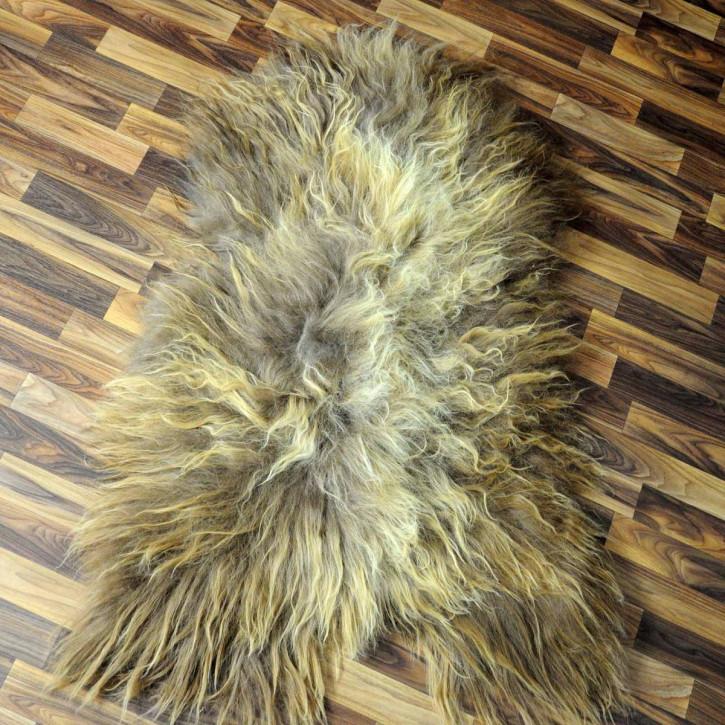 XXXL ÖKO Island Schaffell schwarzbraun weiß 130x75 #5286