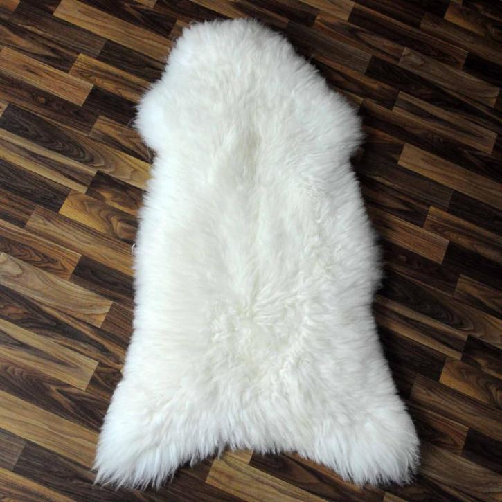 XL ÖKO Island Schaffell weiß schwarz geflammt 115x75 #5401