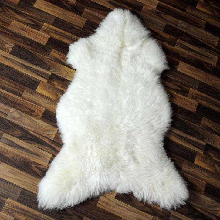 XL ÖKO Island Schaffell weiß schwarz geflammt 110x75 #5407