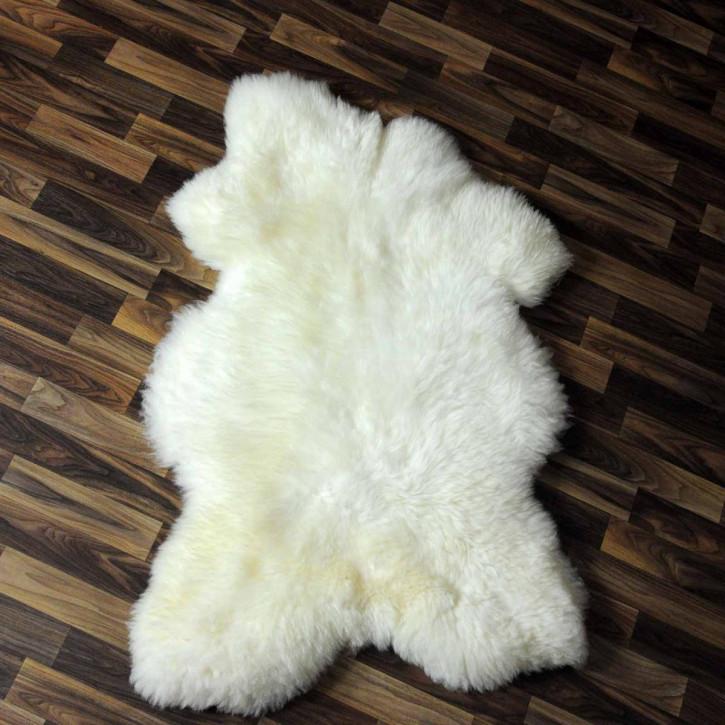 XL ÖKO Island Schaffell weiß schwarz geflammt 110x80 #5417