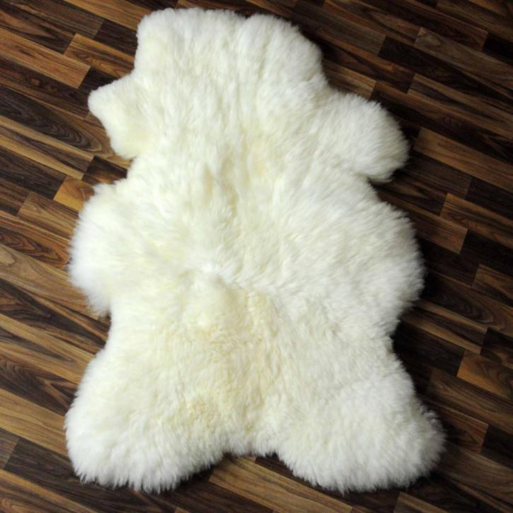 XL ÖKO Island Schaffell schwarzbraun weiß 115x75 Fell Auflage #5429