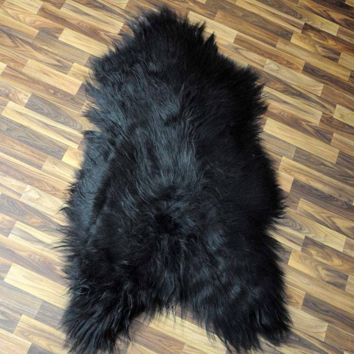 XXXL ÖKO Schaffell Fell Lammfell braun grau beige 130x85 Teppich #5465