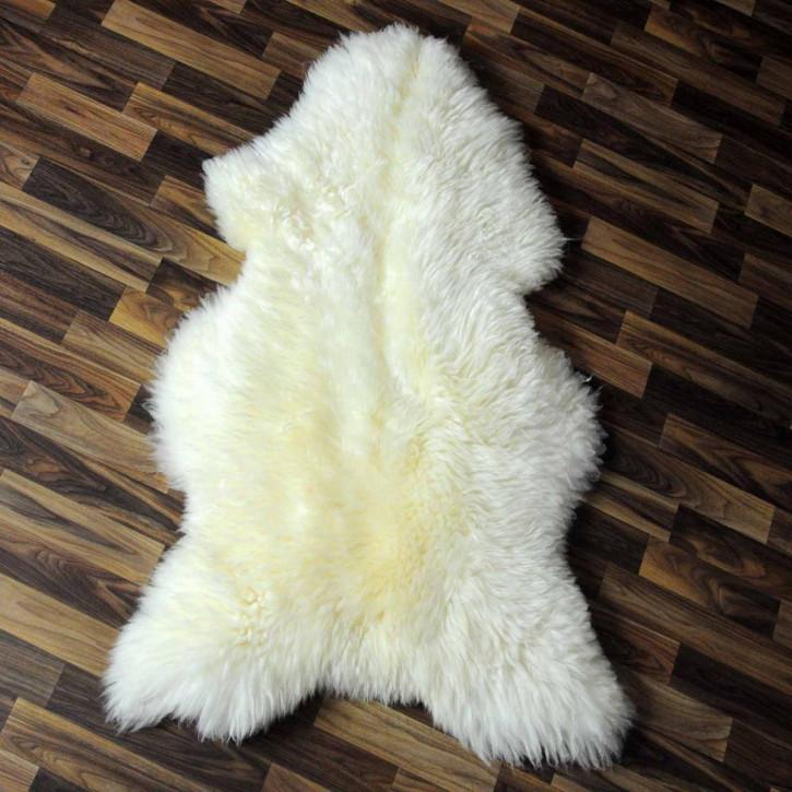 XXL ÖKO Island Schaffell Lammfell schwarzbraun 120x80 #5475