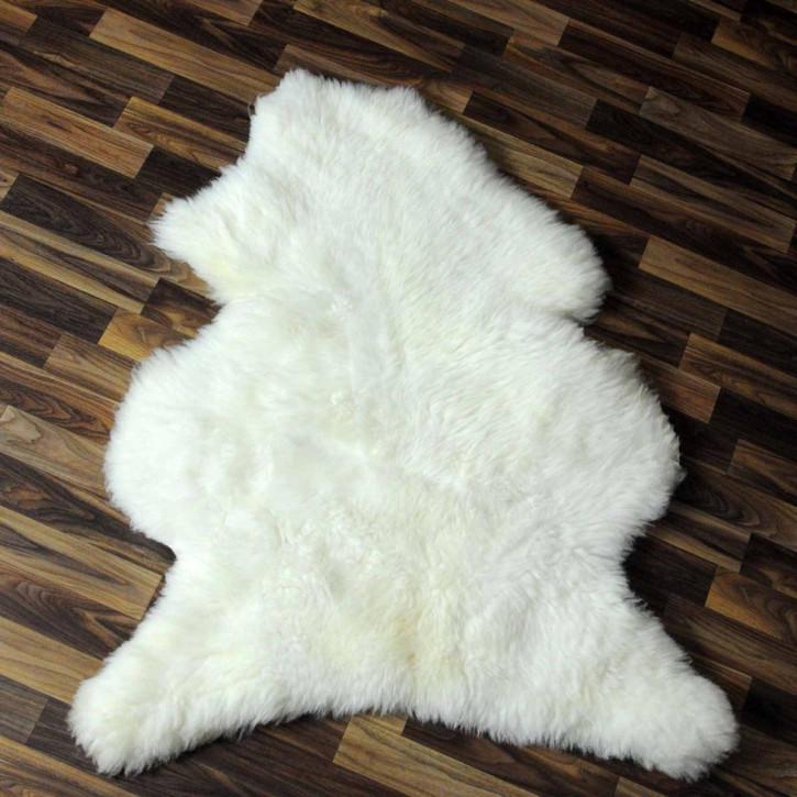 XXL ÖKO Schaffell Fell Lammfell braun grau 120x80 Teppich #5485