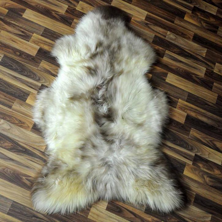 Island Schaffell grau schwarz geflammt 105x65 Auflage #5771