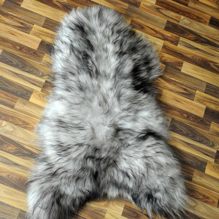 Island Schaffell grau schwarz geflammt 105x70 Auflage #5935
