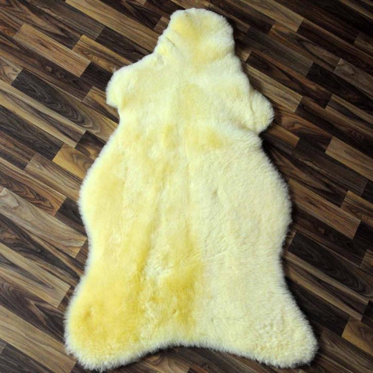 XL ÖKO Schaffell Fell creme weiß 110x80 Auflage #5964