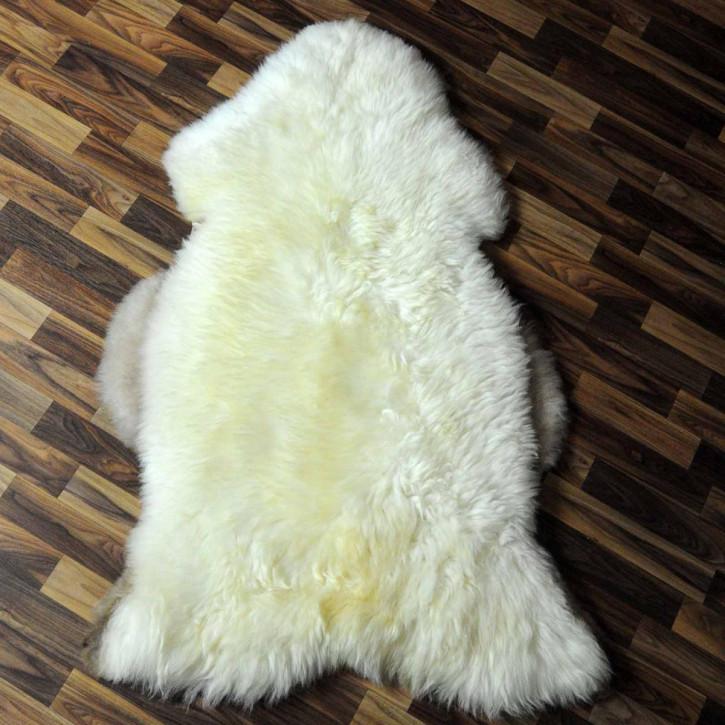 XL ÖKO Schaffell Fell creme weiß 115x80 sheepskin #6336