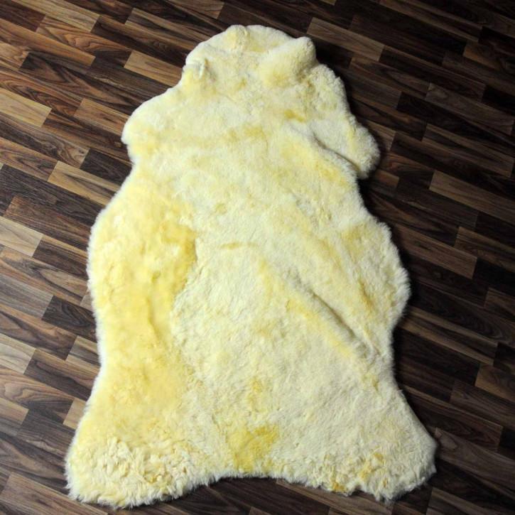 XXL ÖKO Schaffell Fell creme weiß 120x80 sheepskin #6340
