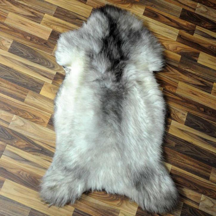 Island Schaffell grau 105x70 gelockt gefärbt sheepskin #6416