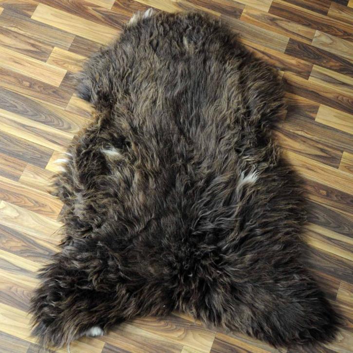 Island Schaffell grau 100x70 gelockt gefärbt sheepskin #6426