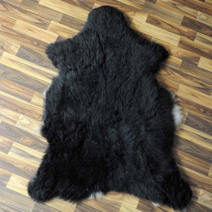 XL ÖKO Schaffell Fell Lammfell beige braun 110x80 Geschenk #6749