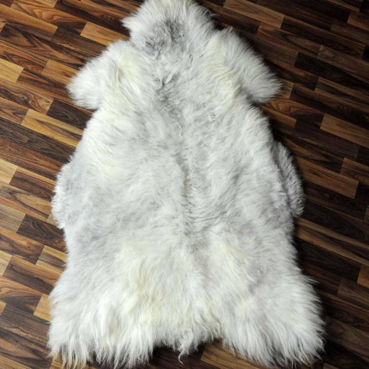 XL ÖKO Island Schaffell weiß schwarzbraun geflammt 115x75 #6927