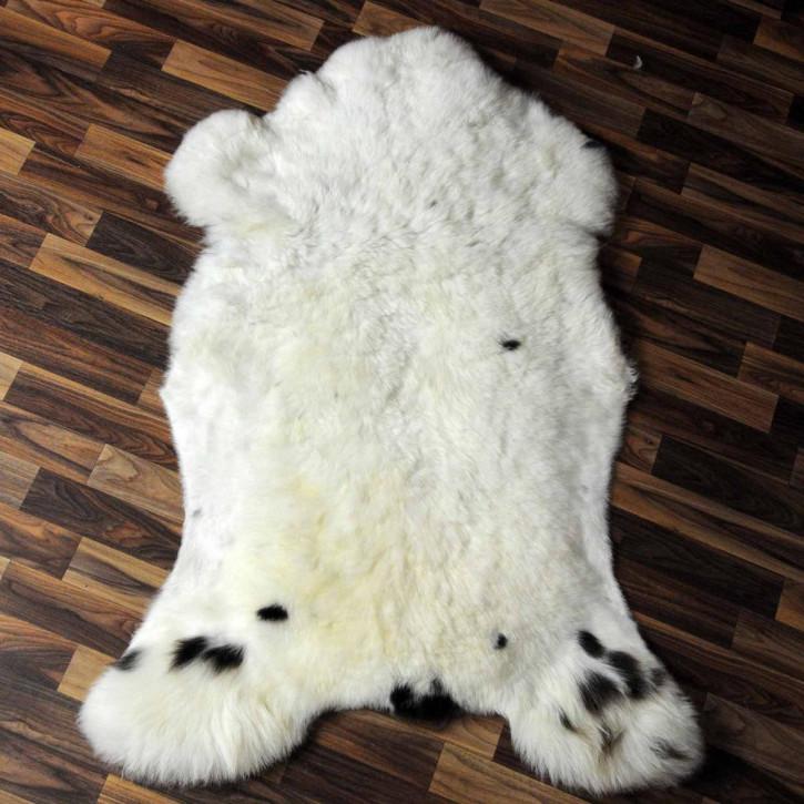 XL ÖKO Island Schaffell weiß schwarzbraun geflammt 110x70 #6935