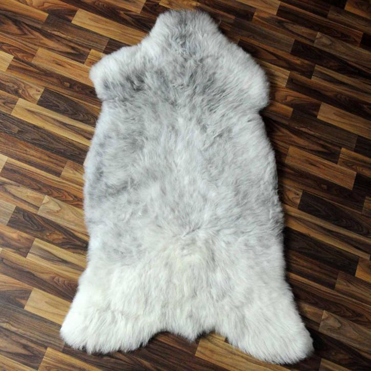 XL ÖKO Island Schaffell weiß schwarzbraun geflammt 115x70 #6942
