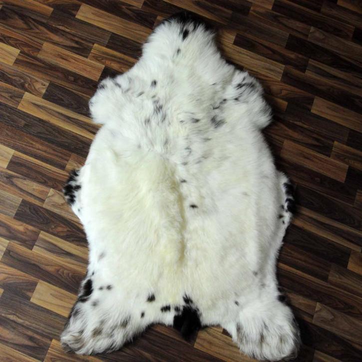 XL Island Schaffell grau schwarz geflammt 115x65 #6947