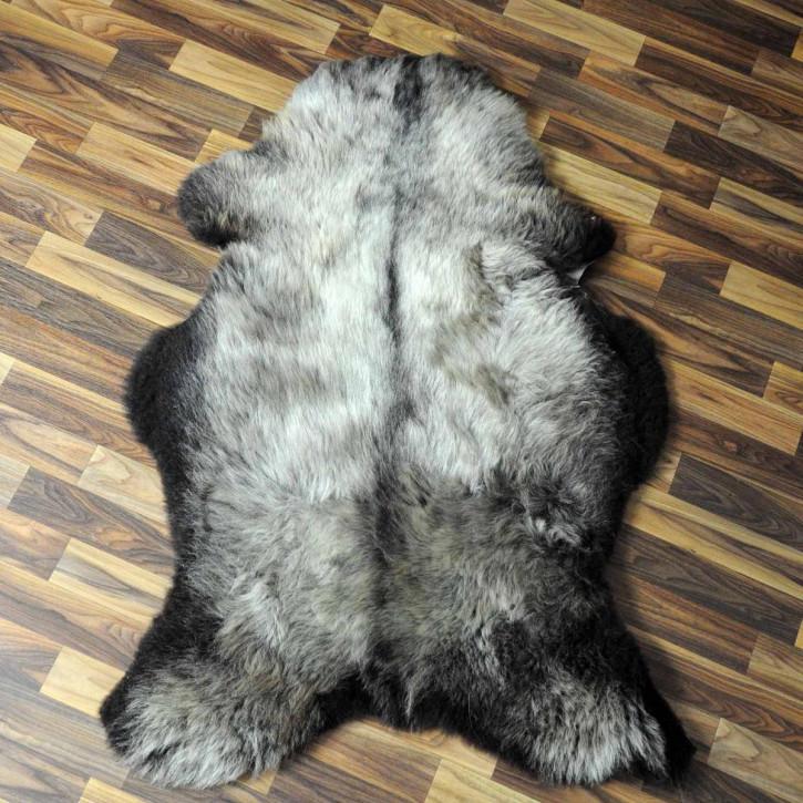 XL ÖKO Schaffell Fell creme weiß braun 115x80 geschoren Eisbär #7181