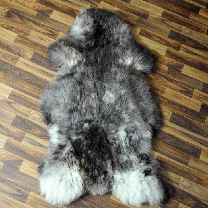 XL ÖKO Schaffell Fell creme weiß braun 115x80 geschoren Eisbär #7185