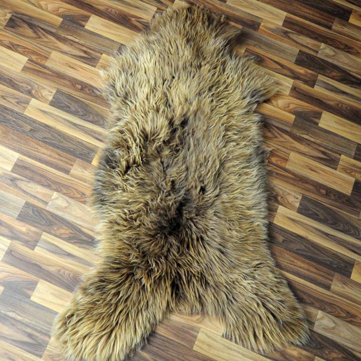 XXXL ÖKO Island Schaffell beige schwarzbraun 130x80 #7238