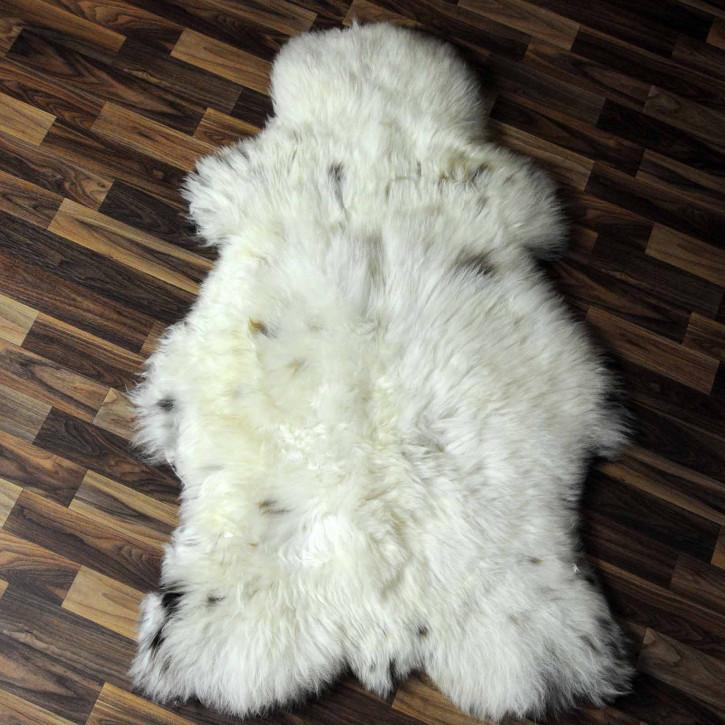 XXL ÖKO Island Schaffell schwarzbraun grau 125x80 #7301