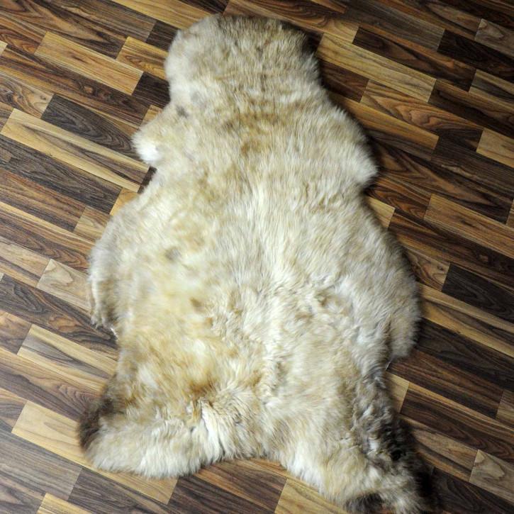 XL ÖKO Island Schaffell schwarzbraun grau 110x80 #7304