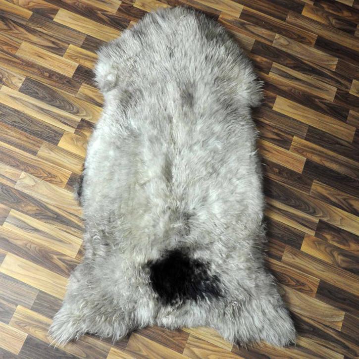 XXL ÖKO Island Schaffell natur grau schwarzbraun 120x75 #7422