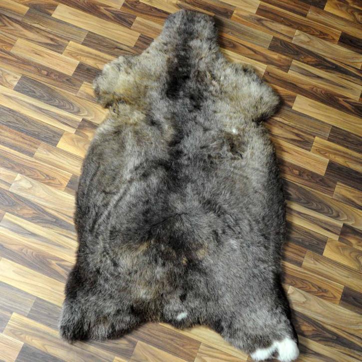XL ÖKO Island Schaffell beige schwarzbraun 110x75 #7423