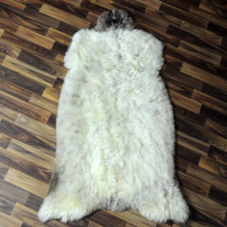 XXL ÖKO Island Schaffell beige schwarzbraun 125x80 #7424